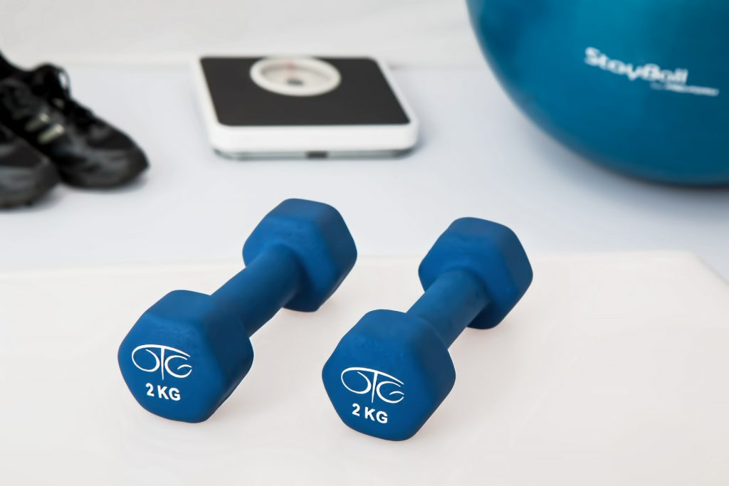 weights, ball, scale