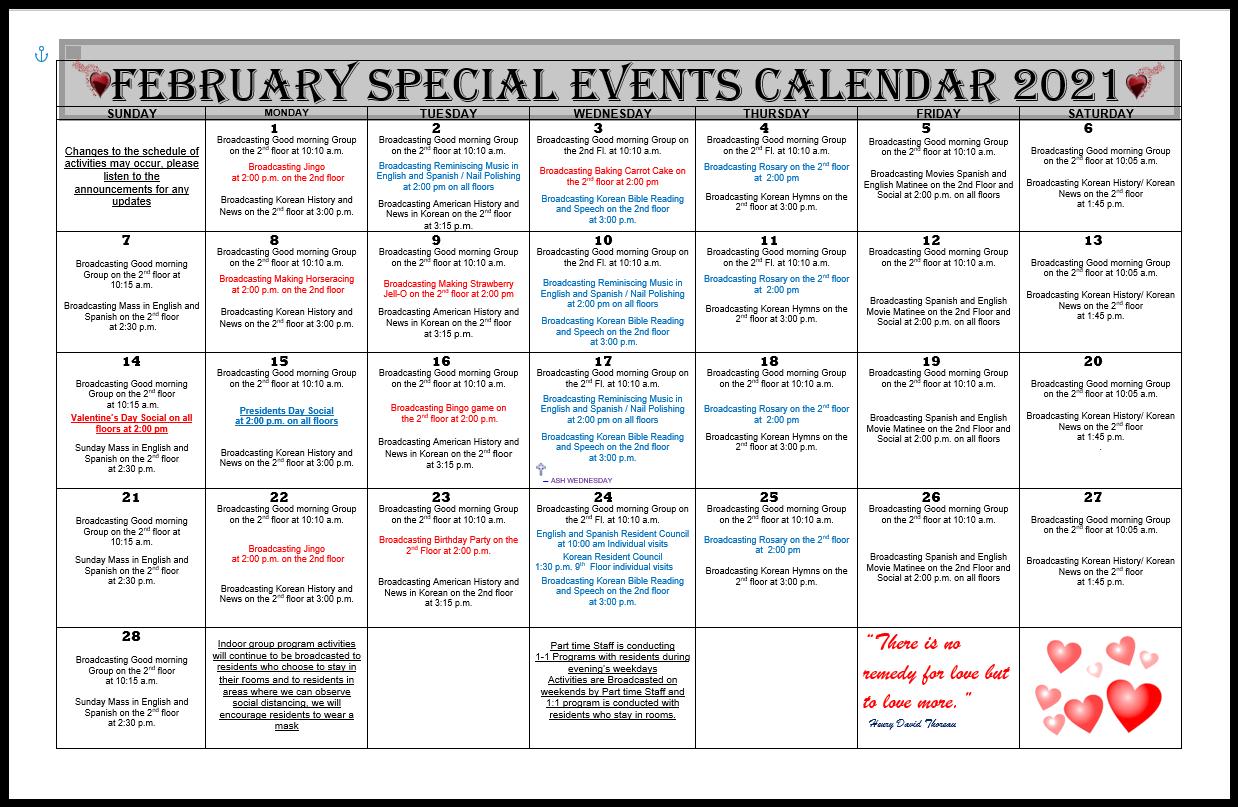 Click Calendar To Zoom